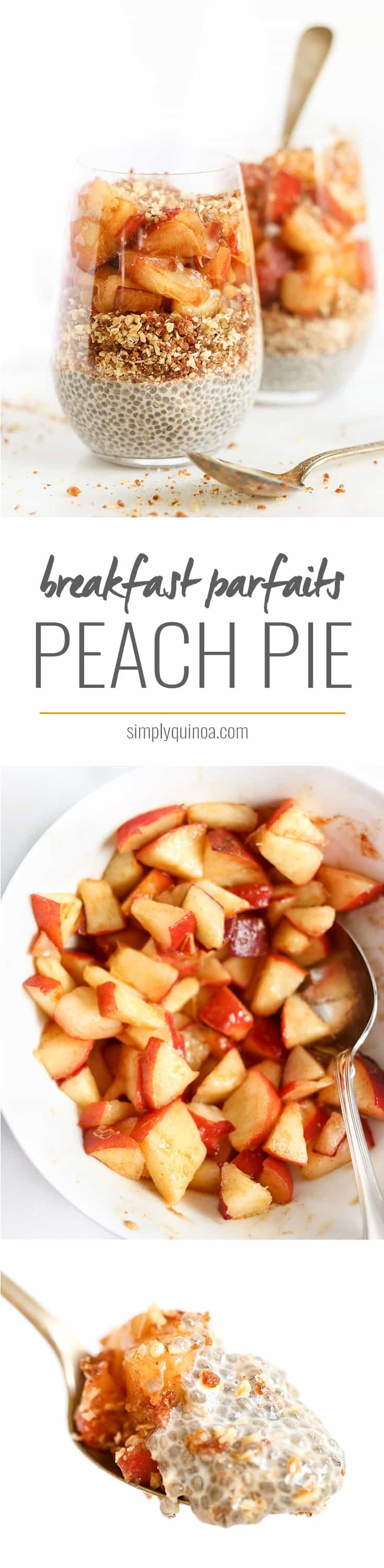 The ultimate way to start your day >> PEACH PIE BREAKFAST PARFAITS! healthy, gluten-free, vegan and SO flavorful!