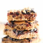 PEANUT BUTTER + JELLY SNACK BARS -- like gussied up granola bars only way more fun to eat!