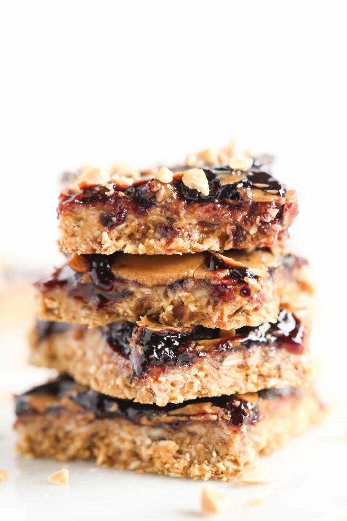 Peanut Butter Jelly Bars Vegan Amp Gluten Free Simply Quinoa