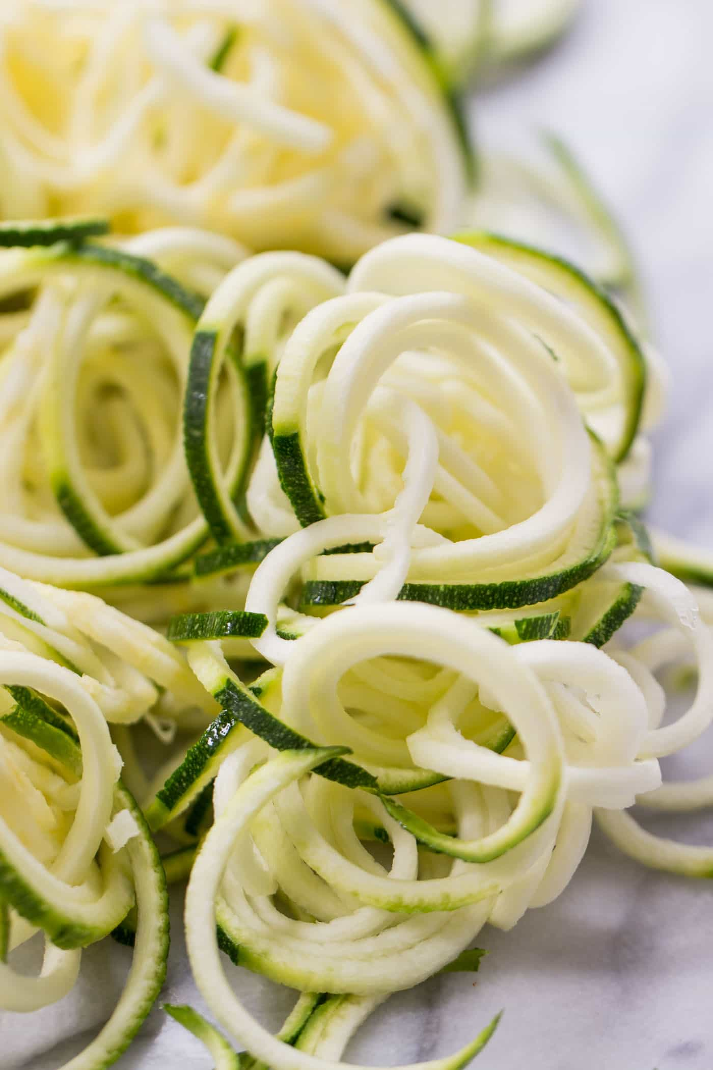 Zucchini Noodles -- a healthy, low-carb alternative to pasta!