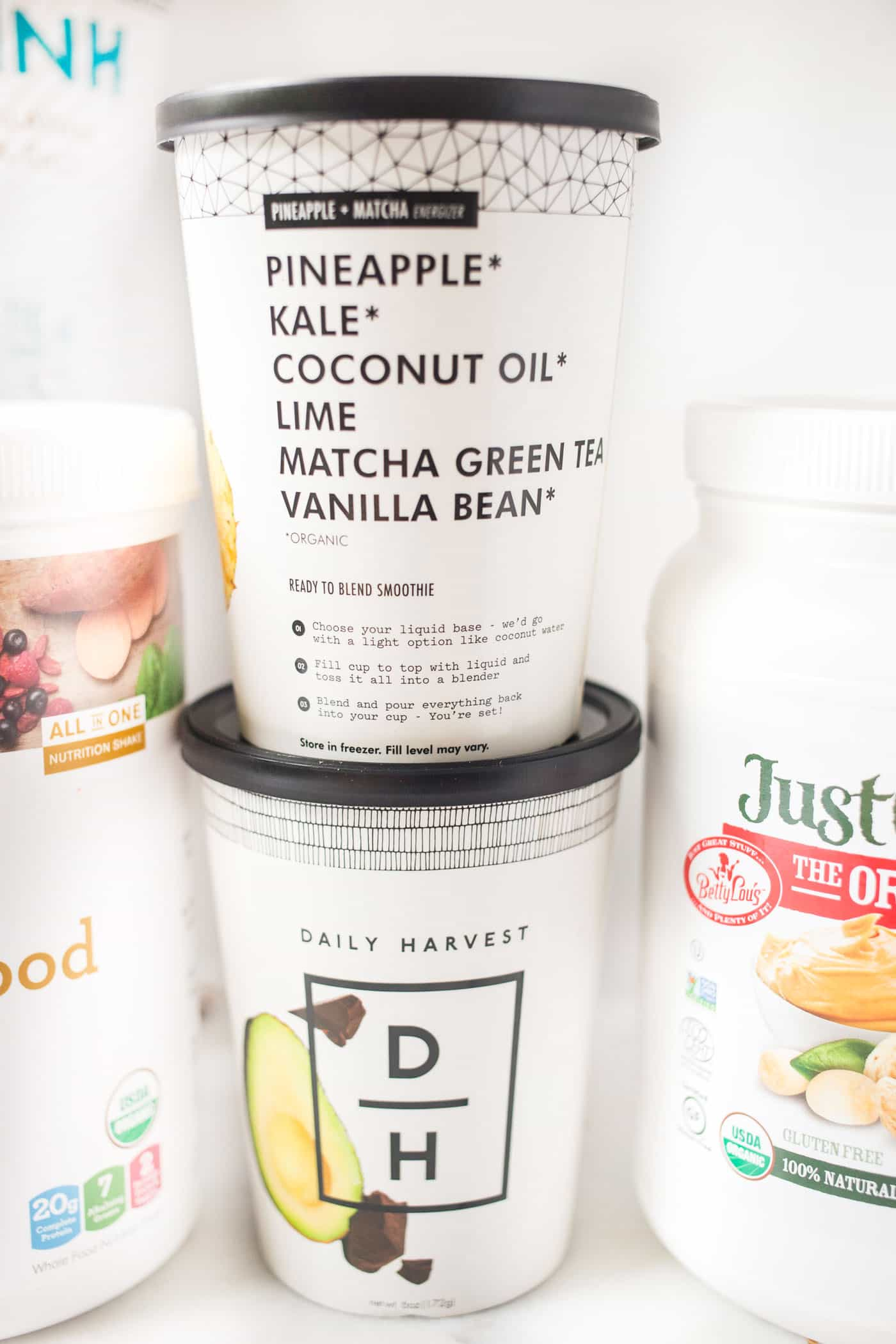 Daily Harvest Smoothies -- a simple and convenient way to enjoy your favorite smoothie combo!