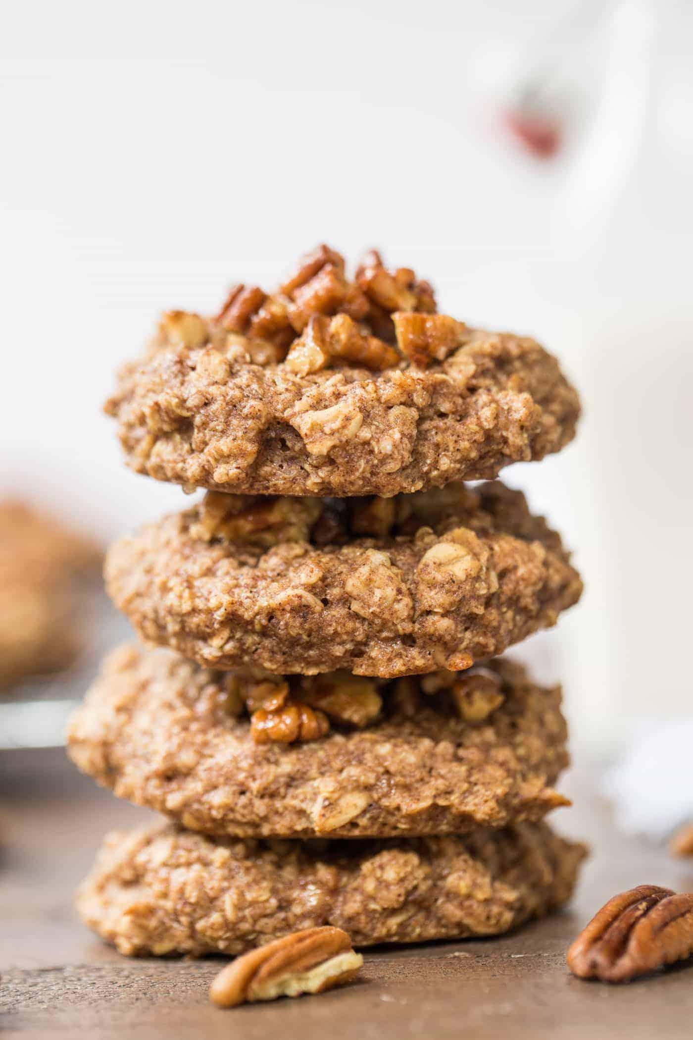 Pecan Pie Quinoa Breakfast Cookies