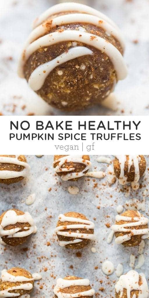 No-Bake Pumpkin Spice Truffles