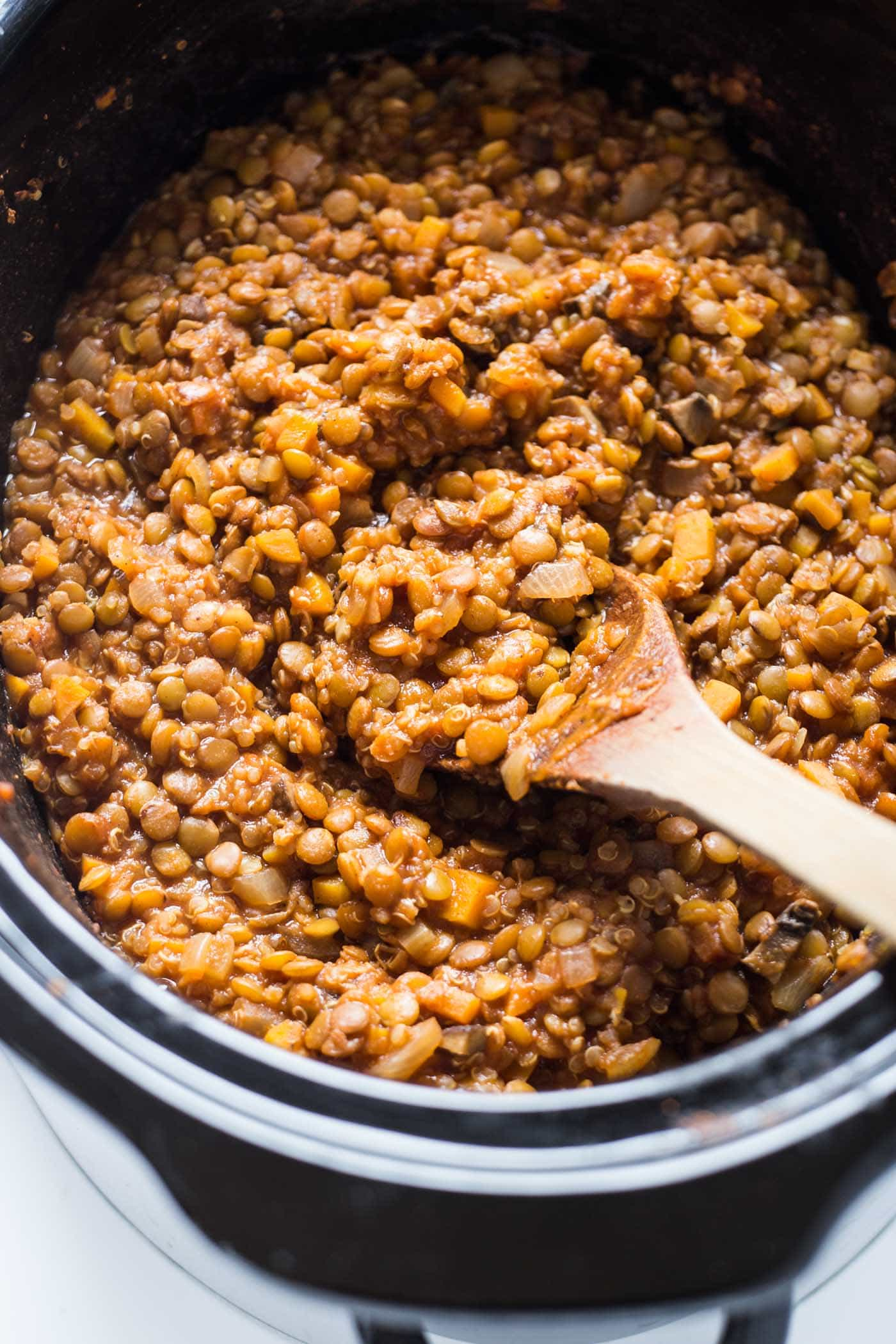 LENTIL SLOPPY JOES made in the slow cooker! So easy and the perfect vegan alternative to this all-American classic!