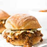 Hands down THE BEST vegan sloppy joes ever! Made with lentils, quinoa and mushrooms they're incredibly flavorful and super easy to make!