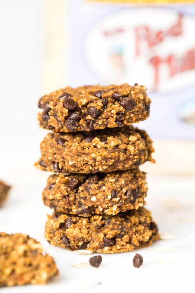 The BEST & HEALTHIEST Pumpkin Chocolate Chip Cookies ever. Made without any gluten, dairy, eggs, oil, butter OR refined sugar!