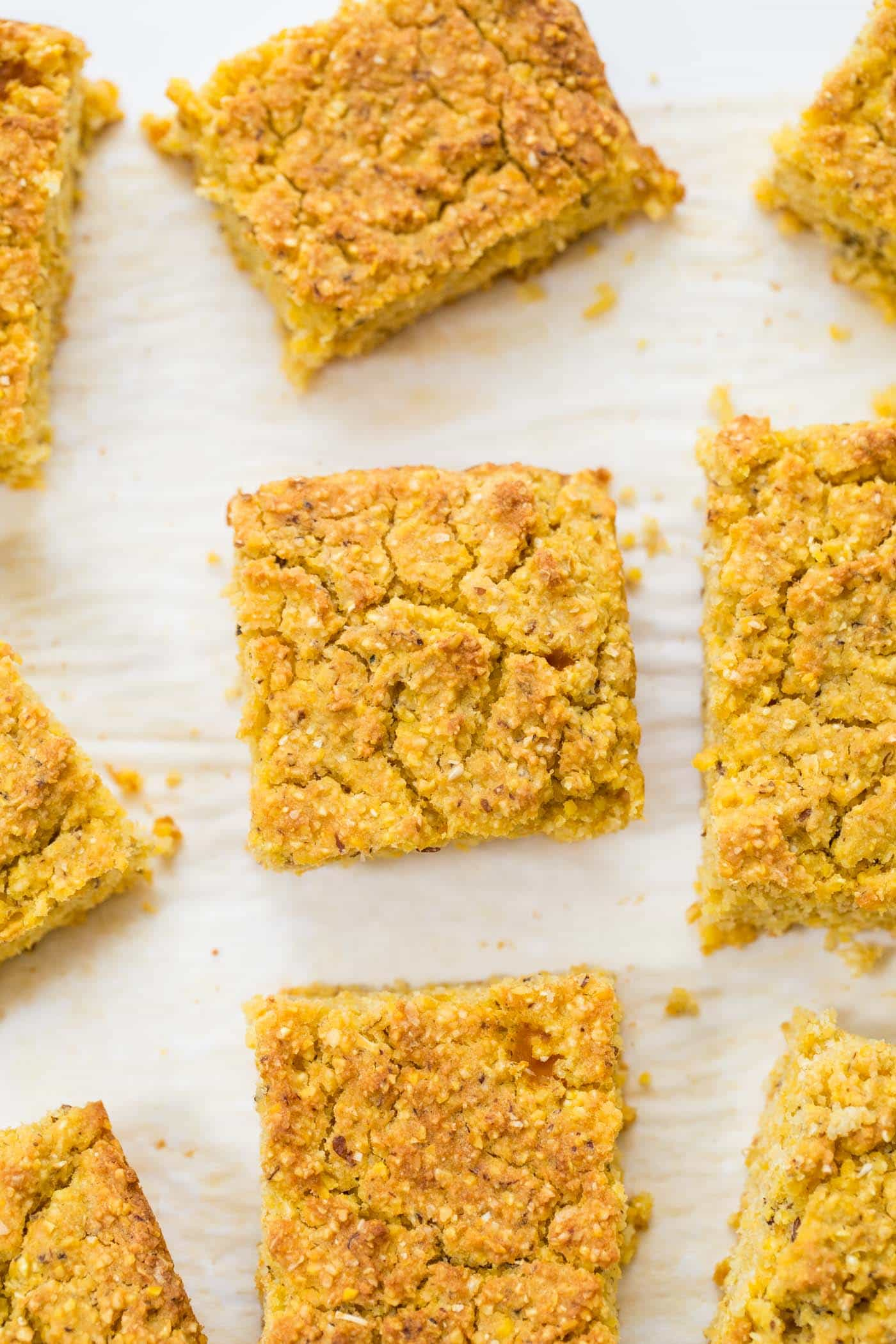 Vegan Pumpkin Cornbread made in just ONE BOWL and less than 10 ingredients!