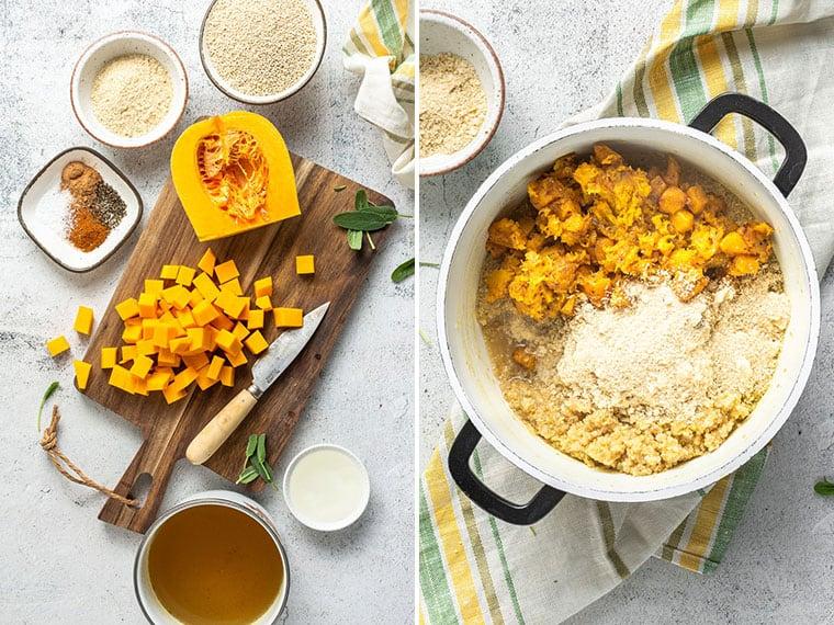 how to make butternut squash quinoa risotto