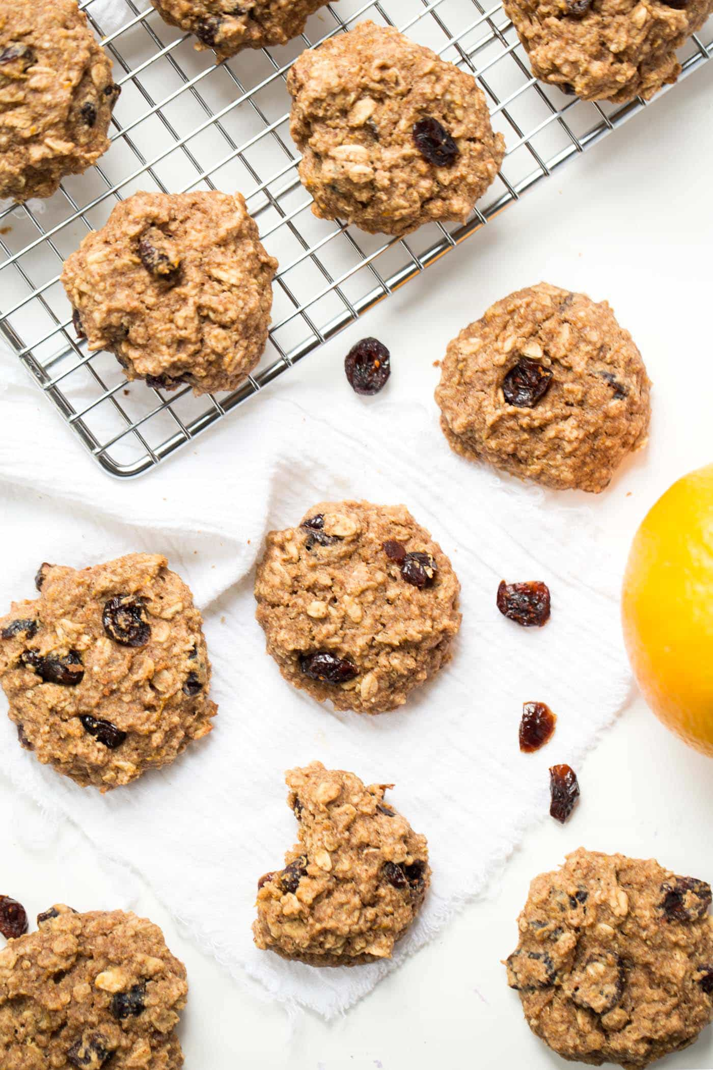 Cranberry Orange Oatmeal Breakfast Cookies