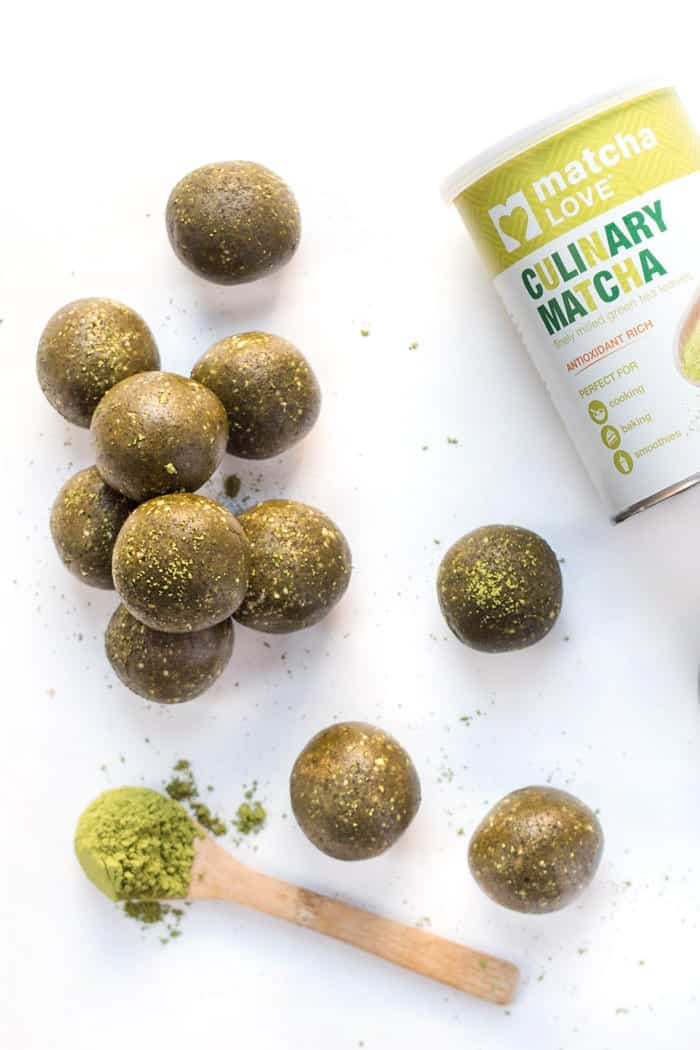 matcha energy balls using culinary matcha powder