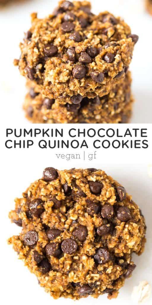pumpkin quinoa chocolate chip cookie