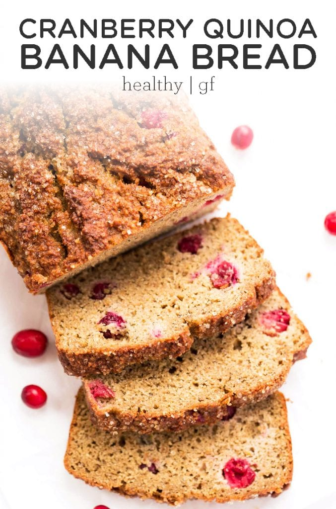 cranberry quinoa banana bread