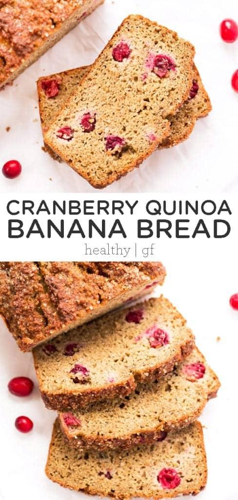 cranberry quinoa banana bread