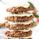 These AMAZING Gingerbread Quinoa Breakfast cookies have almond butter, molasses and warm spices and they're actually HEALTHY | gluten-free + vegan