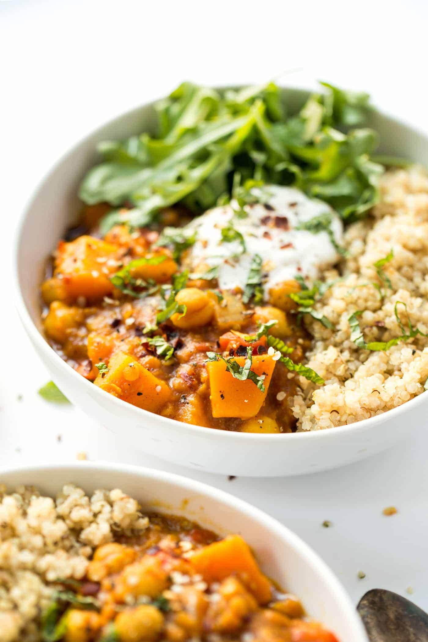 Slow Cooker Moroccan Chickpea Stew - Simply Quinoa