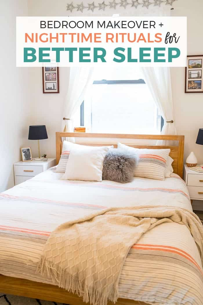 bedroom makeover with nighttime sleep rituals