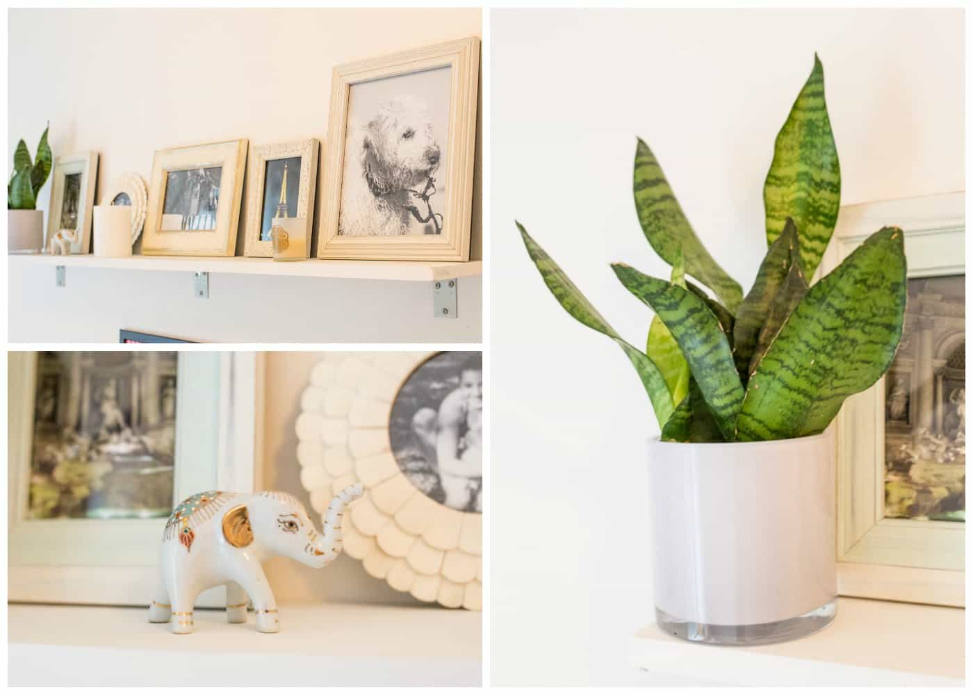 DIY Floating Shelf -- only takes 10 minutes to make!