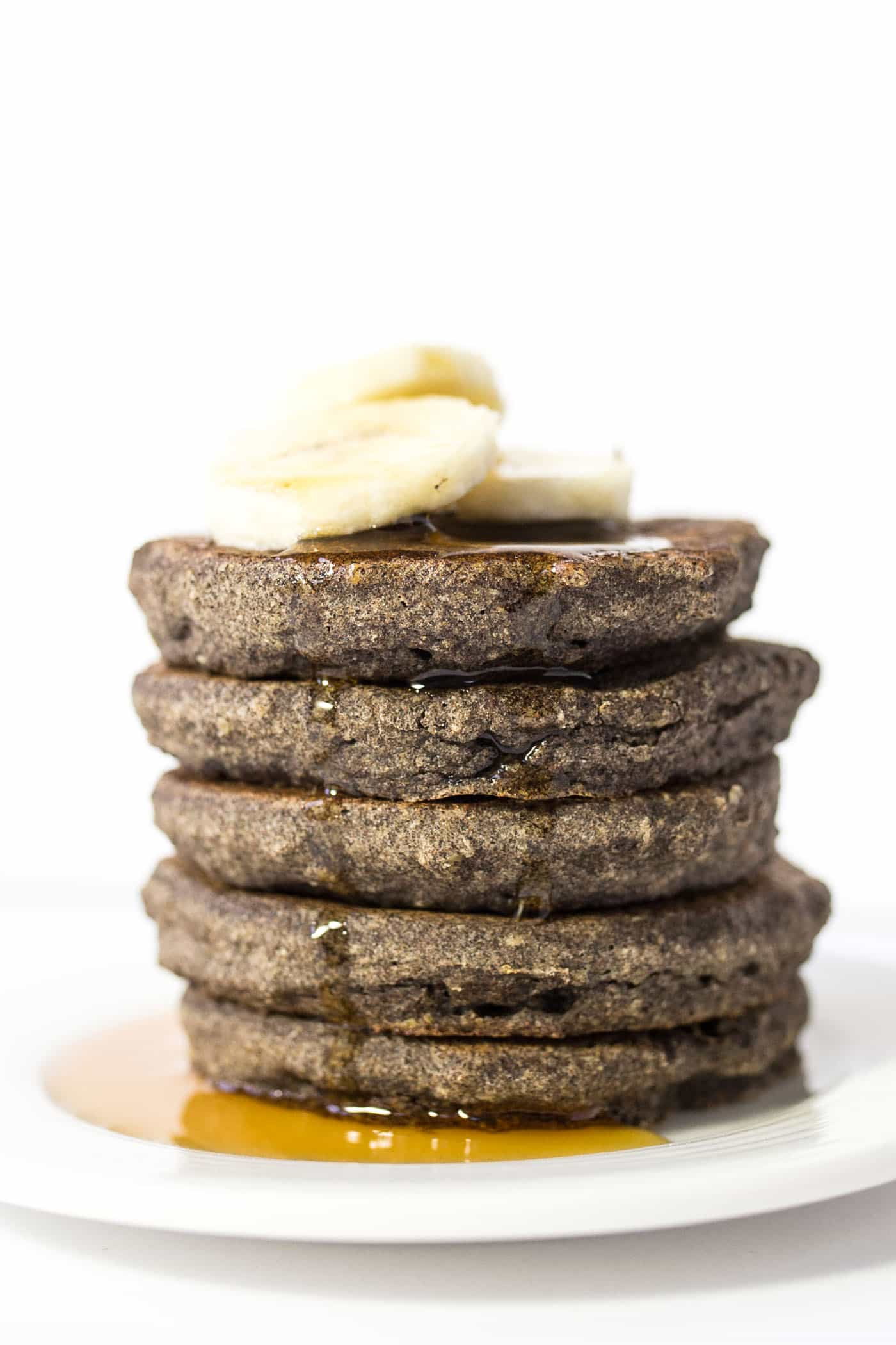 Banana Buckwheat Quinoa Pancakes -- hearty, healthy and the PERFECT way to start your day!