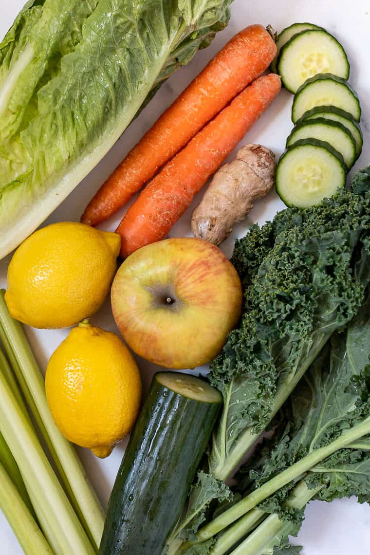 ingredients for the best green juice recipe