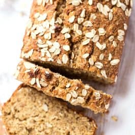 Healthy Honey Oatmeal Banana Bread