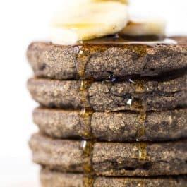 Banana Buckwheat Quinoa Pancakes