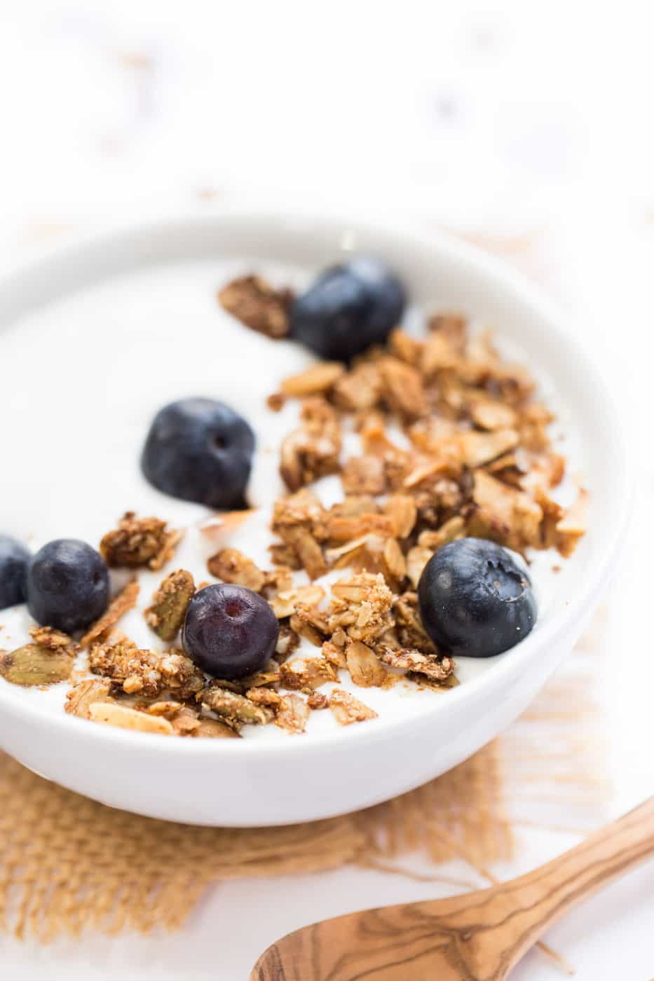 Maca & Maple Quinoa Granola -- packed with energizing superfoods, naturally sweetened and 100% vegan!