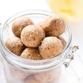No-Bake Lemon Protein Balls
