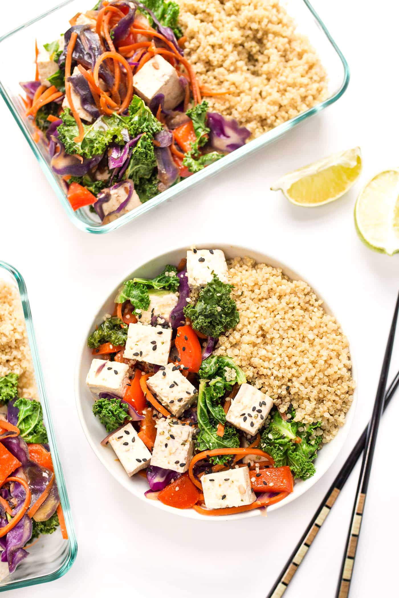 This RAINBOW Vegetable Quinoa Stir Fry is made in just one pan, 10 ingredients and ready in under 20 minutes!