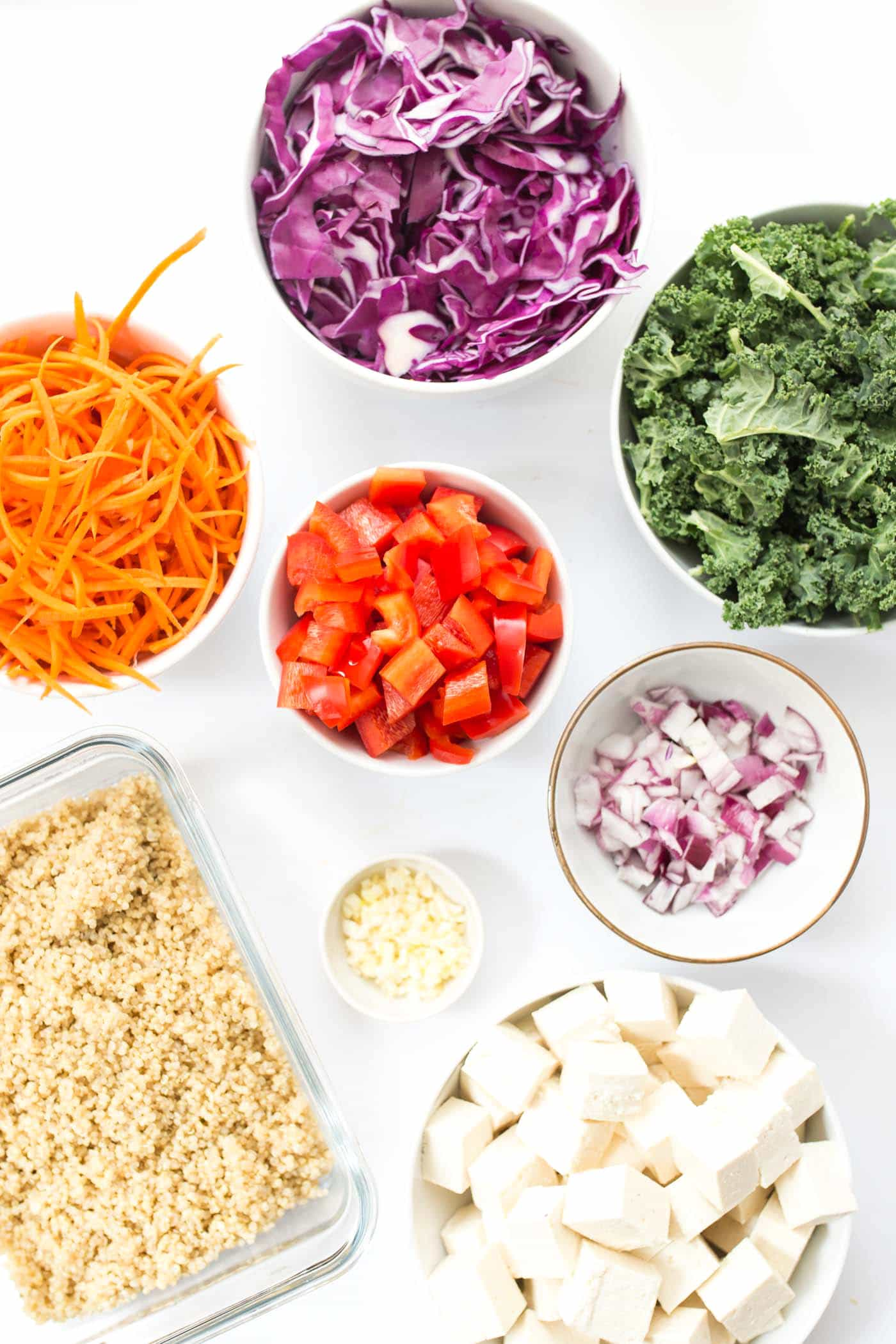 How to make the most EPIC Rainbow Quinoa Stir Fry with ALL the veggies!
