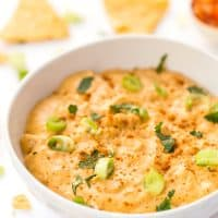 Vegan Kimchi Queso Dip -- the ultimate appetizer or snack to serve with tortilla chips & guac!