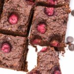 Vegan Raspberry Quinoa Brownies -- super fudgy, chewy and HEALTHY! Plus, they're made with avocado instead of oil