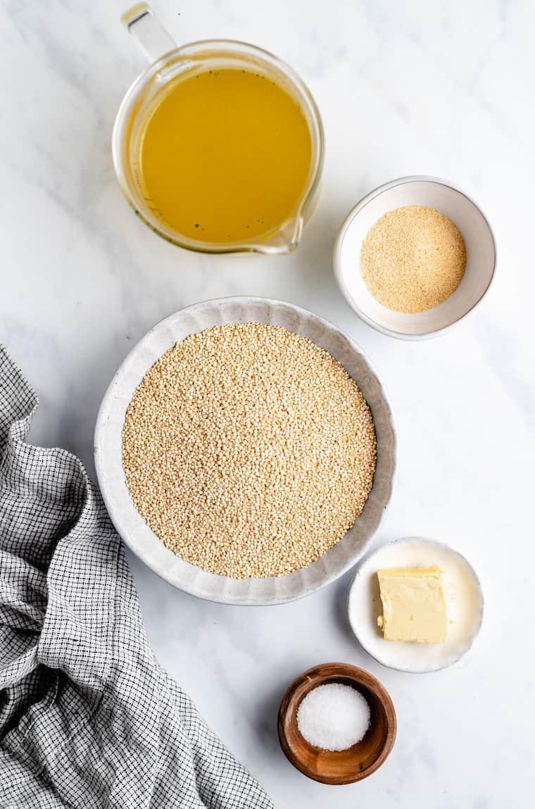 Ingredients for Garlic Butter Quinoa