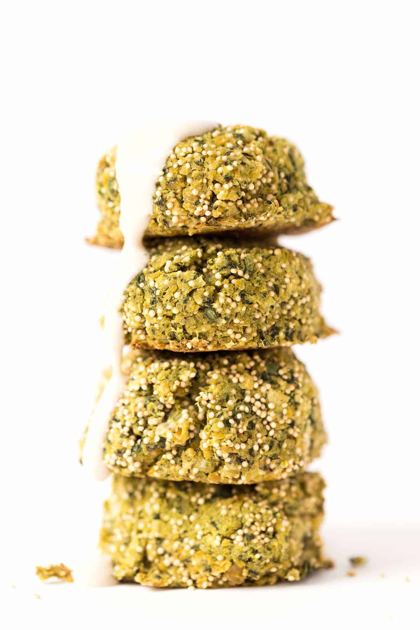 These BAKED Vegan Falafel are made with just 9 ingredients, take 20 minutes to bake and taste AMAZING!