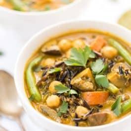 Creamy Coconut & Turmeric Wild Rice Soup