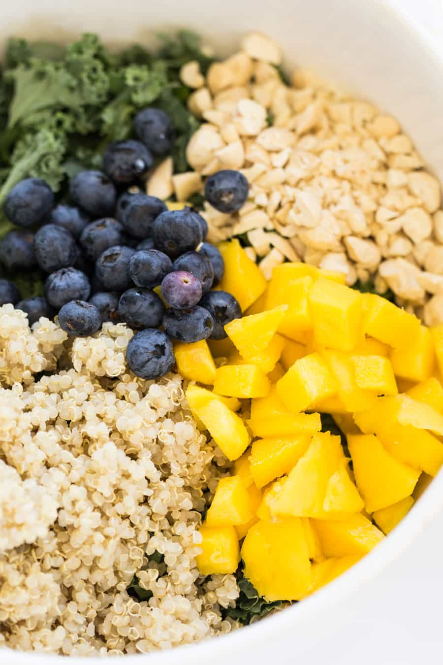 Tropical Kale & Quinoa Power Salad with all the power-packed goodies!