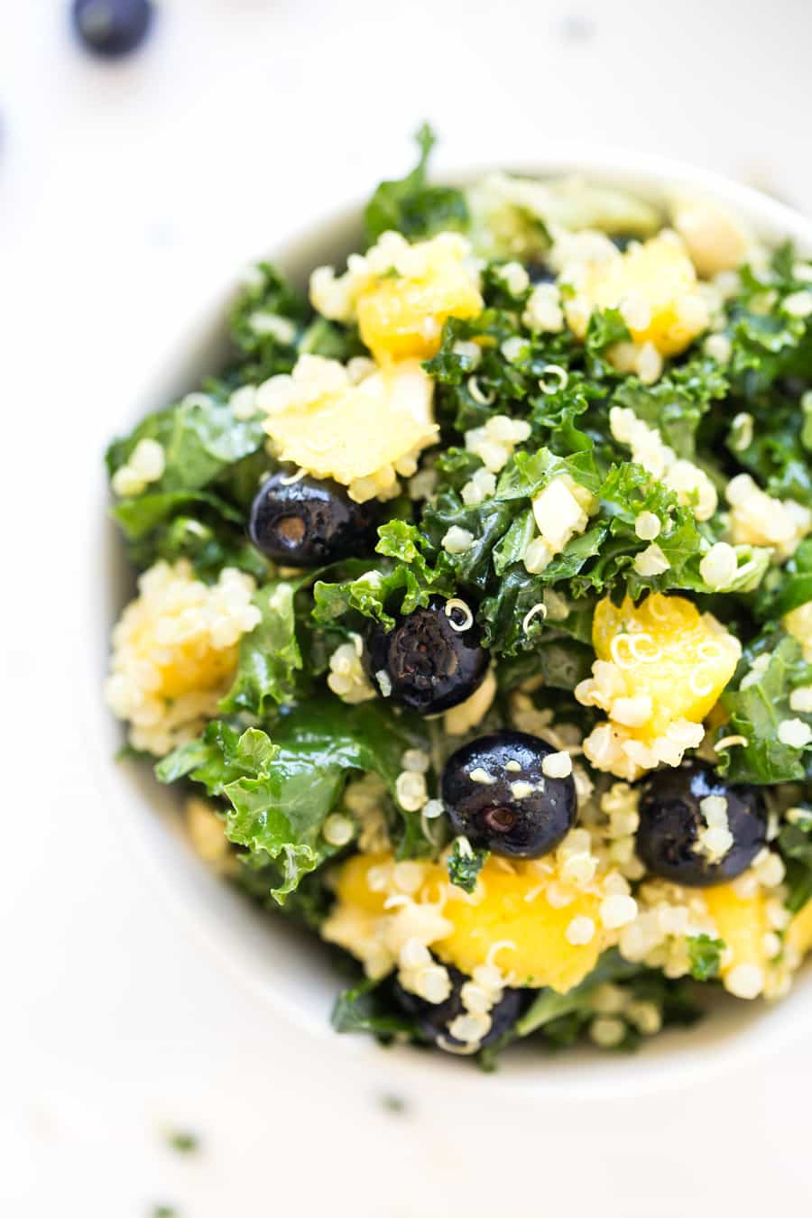 Tropical Kale & Quinoa Power Salad -- full of protein, antioxidants and detoxifying ingredients!