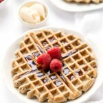 These wholesome Almond Flour Waffles are made without any added starches, are packed with protein and taste amazing!