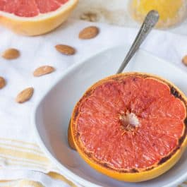 BROILED GRAPEFRUIT -- a quick and easy breakfast recipe that tastes incredible!