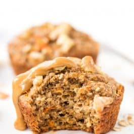 Healthy Carrot Cake Blender Muffins