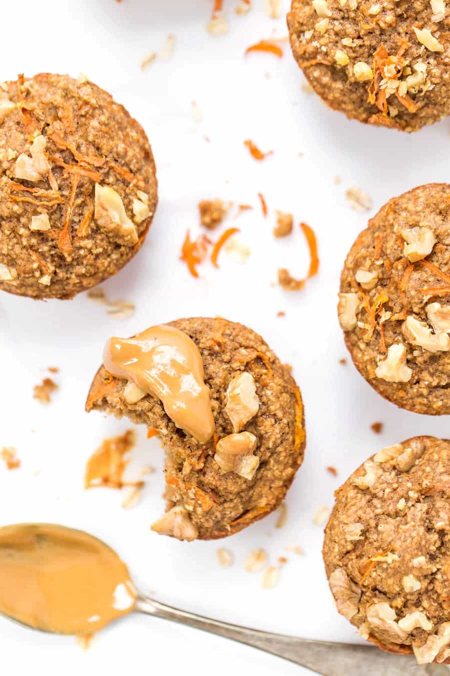 BLENDER CARROT CAKE MUFFINS -- made without any oil, gluten, dairy or refined sugar!
