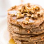 These HEALTHY Carrot Cake Pancakes are light, fluffy, but still hearty and filling!
