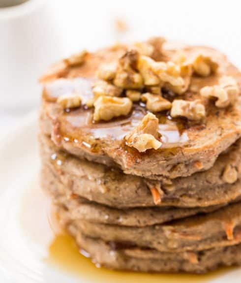 Healthy Carrot Cake Pancakes