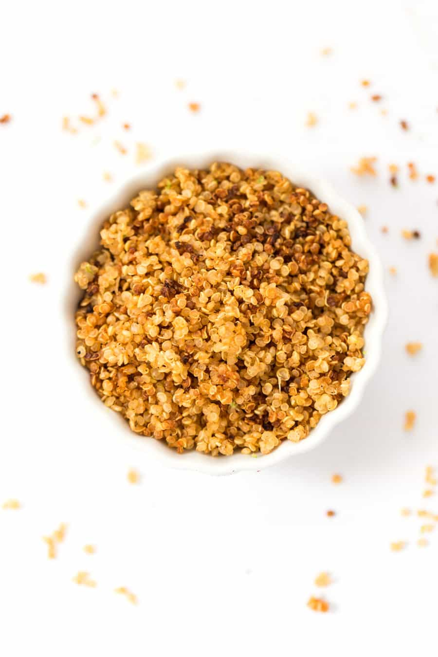 How to make Sriracha Lime Quinoa Crispies -- with just three ingredients!