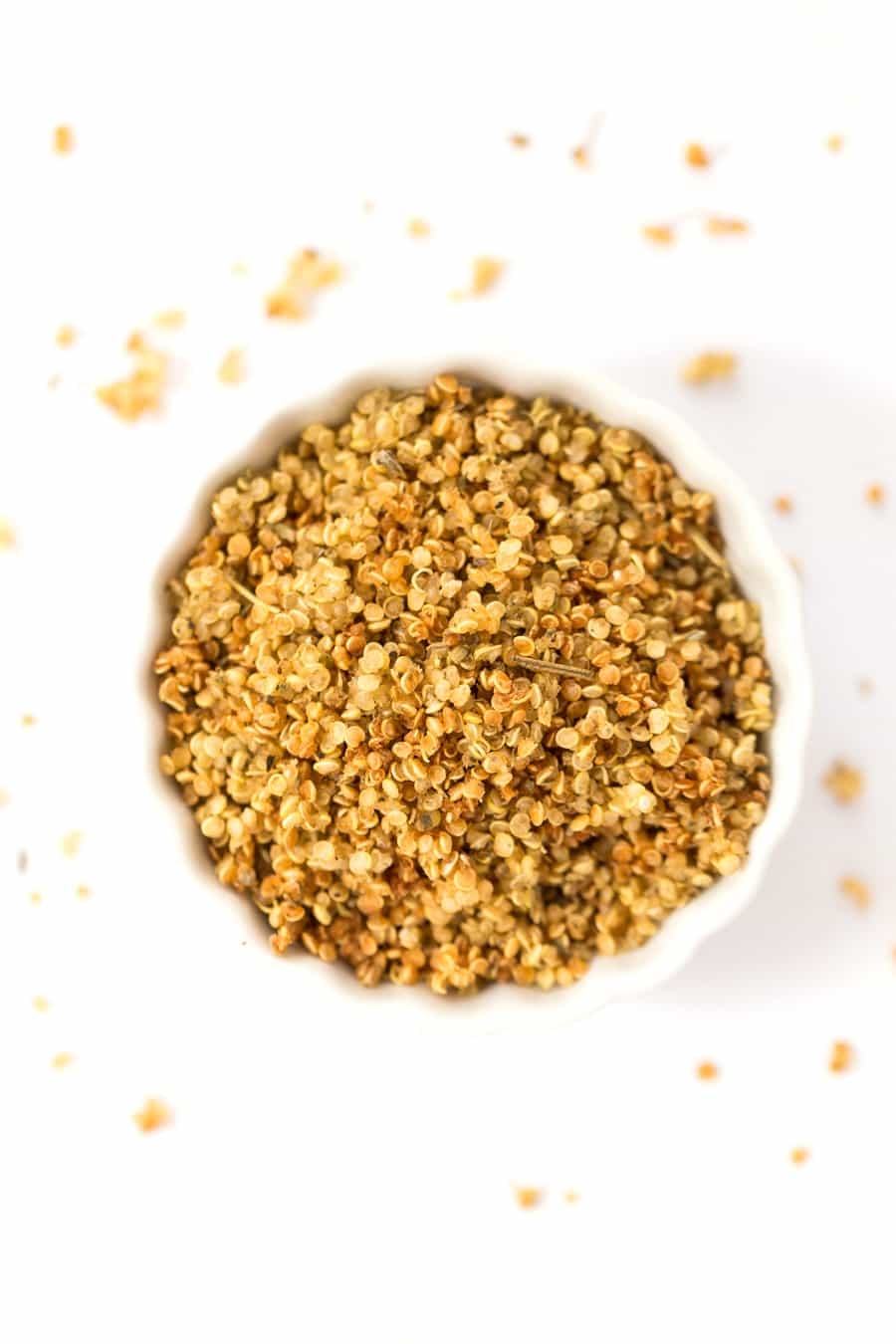 How to make Italian Herb Quinoa Crispies -- with just three ingredients!
