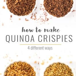 4 Ways to Make Quinoa Crispies