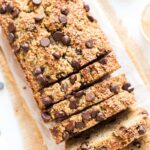 This Almond Flour Chocolate Chip Banana Bread is not only easy but also HEALTHY and delicious!