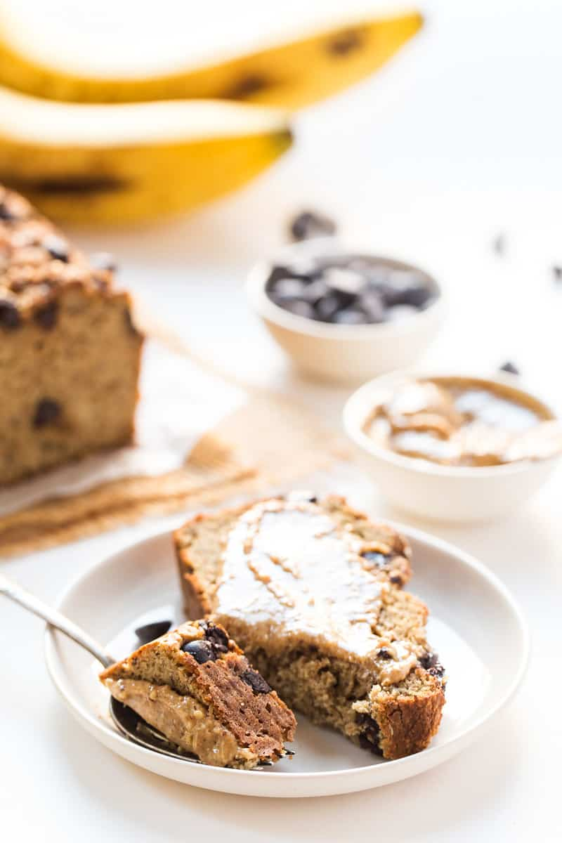 This healthy ALMOND FLOUR Chocolate Chip Banana Bread is not only easy but also HEALTHY, delicious and so simple to make! [gluten-free]