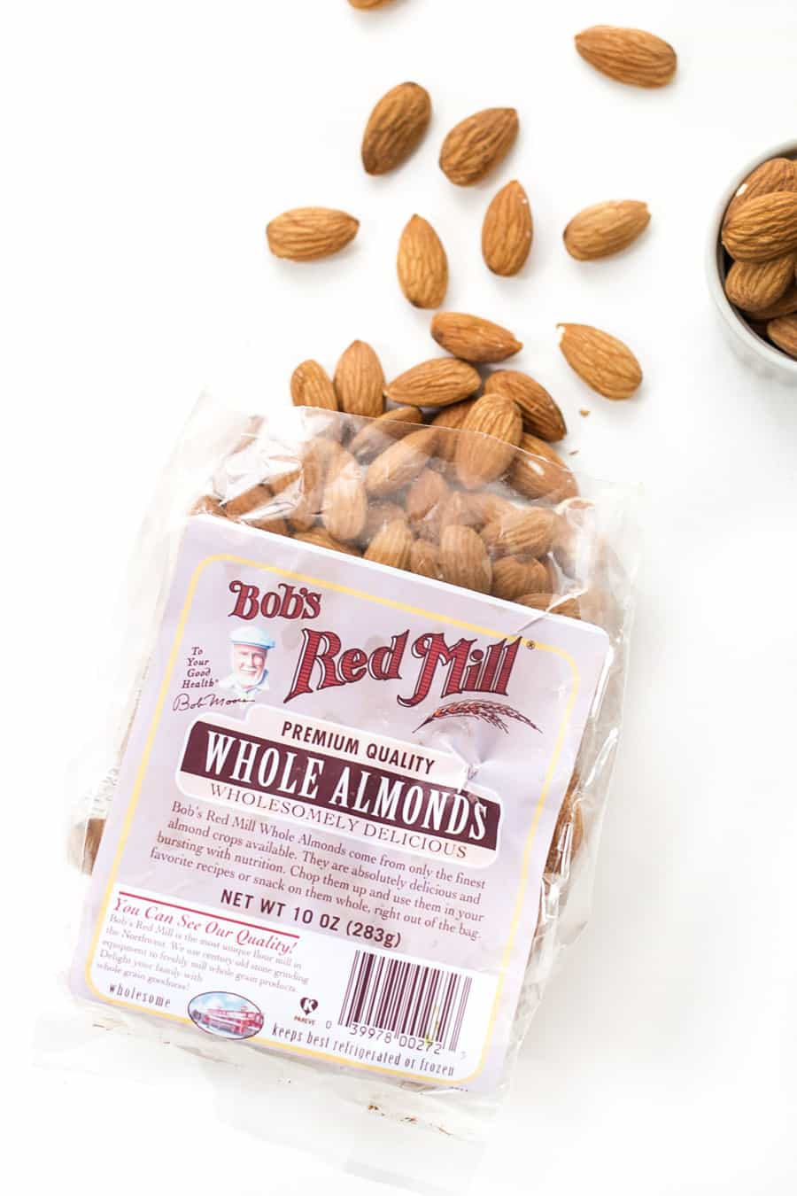 The BEST whole almonds come from Bob's Red Mill!