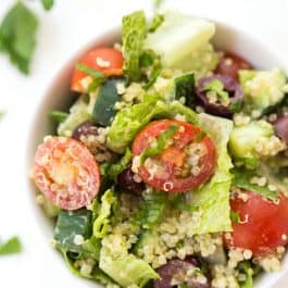 Mediterranean Quinoa Salad with Herbed Tahini Dressing