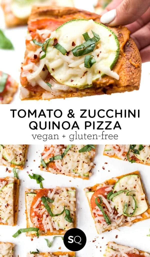 Tomato & Zucchini Quinoa Pizza